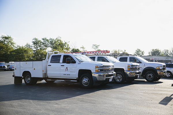 ABR Construction Contractor Service Trucks Near Nicholasville, Kentucky (KY)