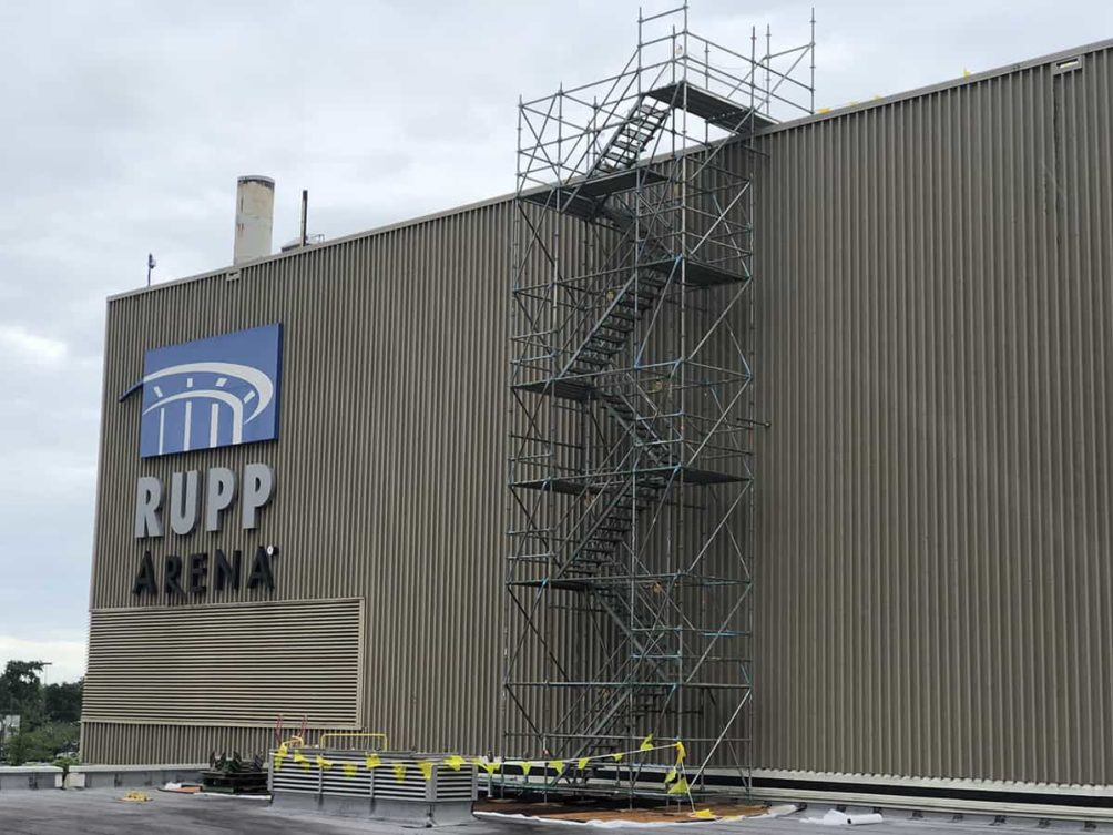 New Roof Installed on Rupp Arena in Lexington, Kentucky (KY)