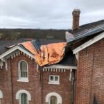 Metal Roof Blown Off from Wind and Rain Near Eastern Kentucky University in Richmond, KY