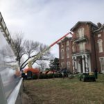 Emergency Roof Repair with Crane from Wind and Rain Damage Near Richmond, KY