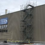 New Commercial Roofing for Rupp Arena with Scaffolding Near Lexington, KY