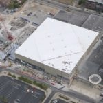 Commercial Roofing for Rupp Arena from Above Near Lexington, KY